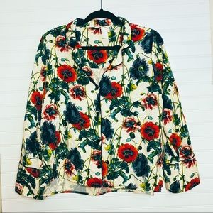 H&M Floral Long Sleeve Blouse